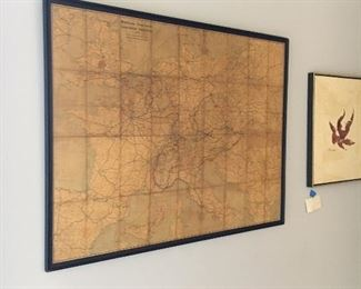 another view of the antique map