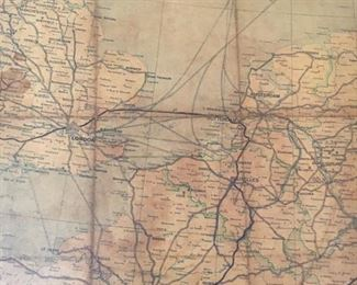 "Antique Map of Middle Europe 50.5""w x 39""h asking $480"