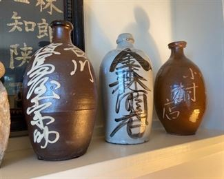 wonderful trio of asian pottery