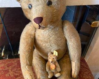 Steiff pre World war II bear valued by antiques appraiser at $800.  Asking $660