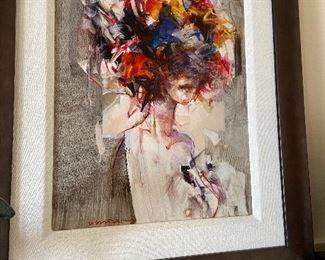 """""""Primavera"""" artist Vanni Salterelli oil on aluminum h 16"""" x 12"""" original price $1350 asking $780"""