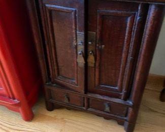 Antique Kang Cabinet 15.5x 10 x 19.5