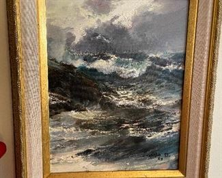 """second oil by artist Juan A. Castillo Bertho, dated '84.  measures 12.75"""" x 10.5"""" asking $400"""