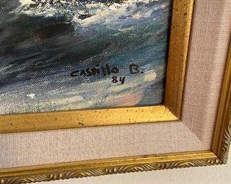 signature on original oil by Castillo