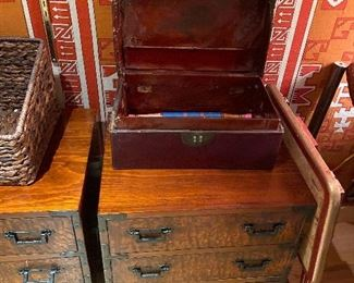 """pair of antique tansu style chests useful in any room chests measure 19.5""""w x 16""""d x 25""""h asking $240 for the pair"""