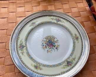 sterling and porcelain plate Heutschenreuther