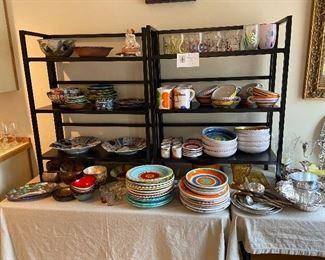 Imari, Coconut bowls, cloisonne, Desimone pottery and more
