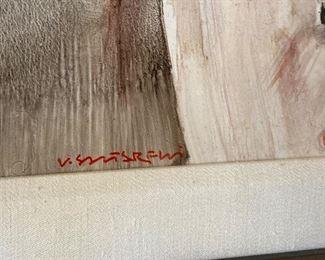 artist signature closer view