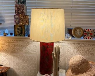 One of a pair of Asian columnar lamps asking $260 for the pair