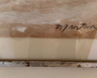 signature on Martin original