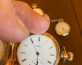 Elgin pocket watch on a chain