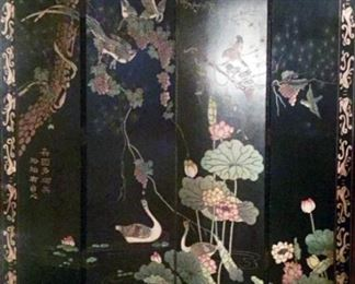 4 Panel Carved Screen