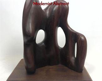Lot 1 Alexander Noll Style Wood Sculpture. Modernist Abstract