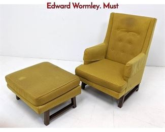 Lot 2 2pc DUNBAR Lounge Chair  Ottoman. Edward Wormley. Must