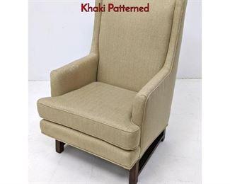 Lot 3 DUNBAR Arm Lounge Chair Edward Wormley. Khaki Patterned