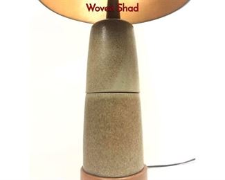 Lot 7 Jane  Gordon Martz Art Pottery Table Lamp. Woven Shad