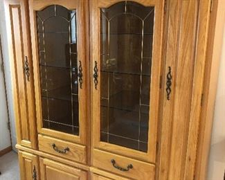 2 piece solid wall unit!