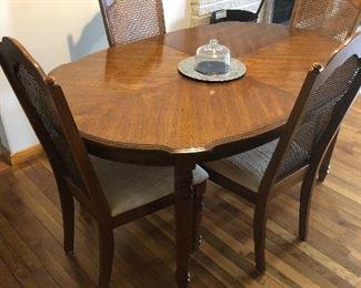 Nice solid wood dining set!