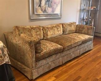 "$695 - VINTAGE W & J SLOAN 3 SEAT SOFA -             90"" by 32"" deep by 25"" high"