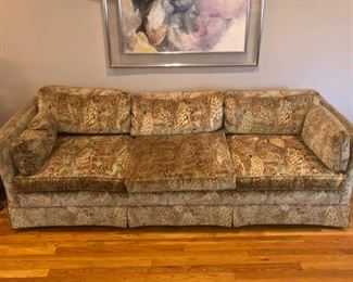 "$695 - VINTAGE W & J SLOAN 3 SEAT SOFA.                90"" by 32"" deep by 25"" high"