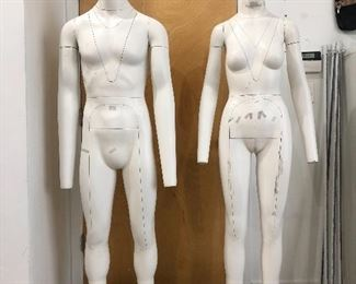 Male and female ghost mannequins. Ideal for e-commerce