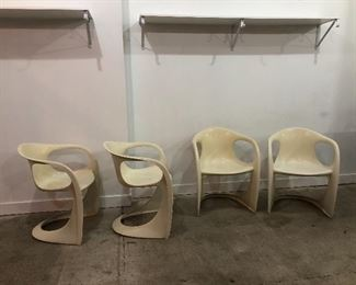 MCM set of stackable chairs