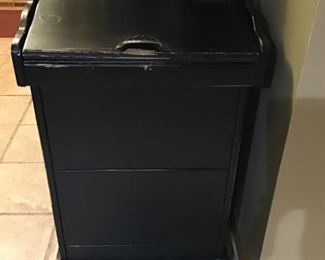 Antique potato bin (was used as a trash can).