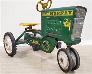 Lot 001 Vintage 50s Murray Diesel Tractor Pedal Car