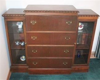 Lot 004 Vintage Cabinet w/ Foldout Writing Desk