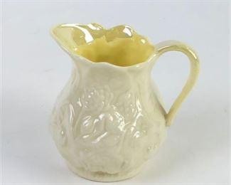 Lot 012 Vintage Belleek Ireland Porcelain Pitcher Creamer