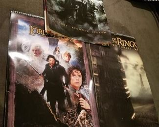 Lord of the rings poster calendars $3 each or $7 for all