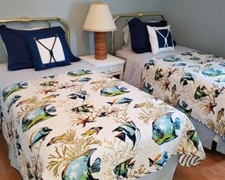another twin bed set with bedding