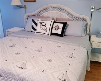king bed set and bedding