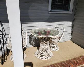 front porch wicker set