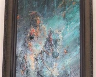 Original Ritch Gaiti Oil Painting