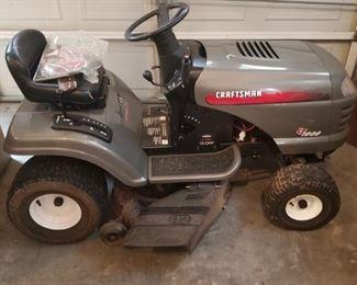 "Craftsman LT1000 riding mower. 42"" cut"