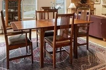 Stickley game / dining table with 4 chairs. Asking price of $3,750. This may be sold presale.