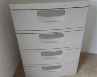 """Plastic drawer unit 25.5 w x 35"""" t https://ctbids.com/#!/description/share/341213"""