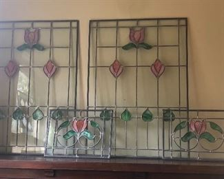 Stained glass windows - 2 of each size