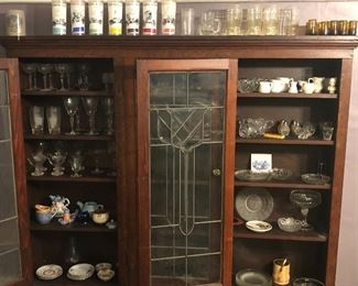 Assorted glassware, some etched stemware