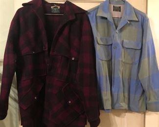 Vintage wool coats & shirts
