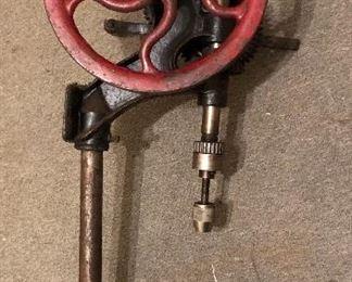 """Antique Canedy Otto No. 3 drill press - 40"""" tall"""