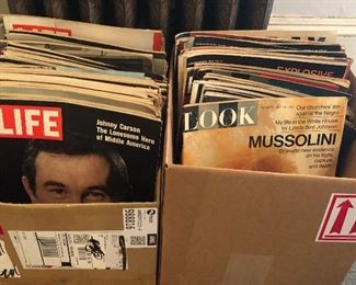 1960s & 70s Life & Look magazines, also Sat. Evening post + a few vintage women's magazines
