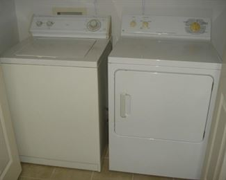 washer & dryer, very clean