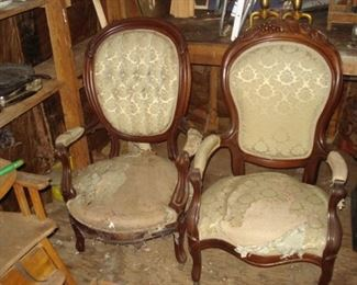 Two Victorian  arm chairs