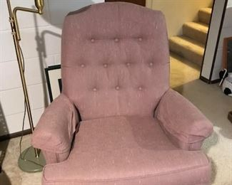 There is 2 of these mauve swivel rockers !