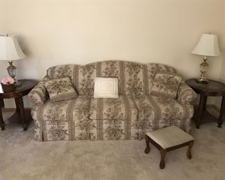 Sofa , End Tables Matching Lamps