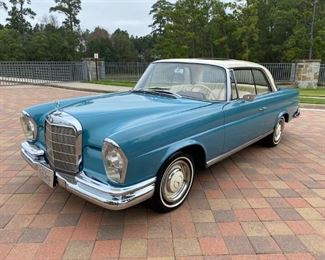 Fully restored 1966 Mercedes-Benz 250se Coupe with RARE Sunroof option! Bid Now at www.aikenvintage.com