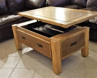 #4 -  Lift top table with storage - $195
