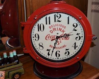 . CocaCola Porthole Clock .
